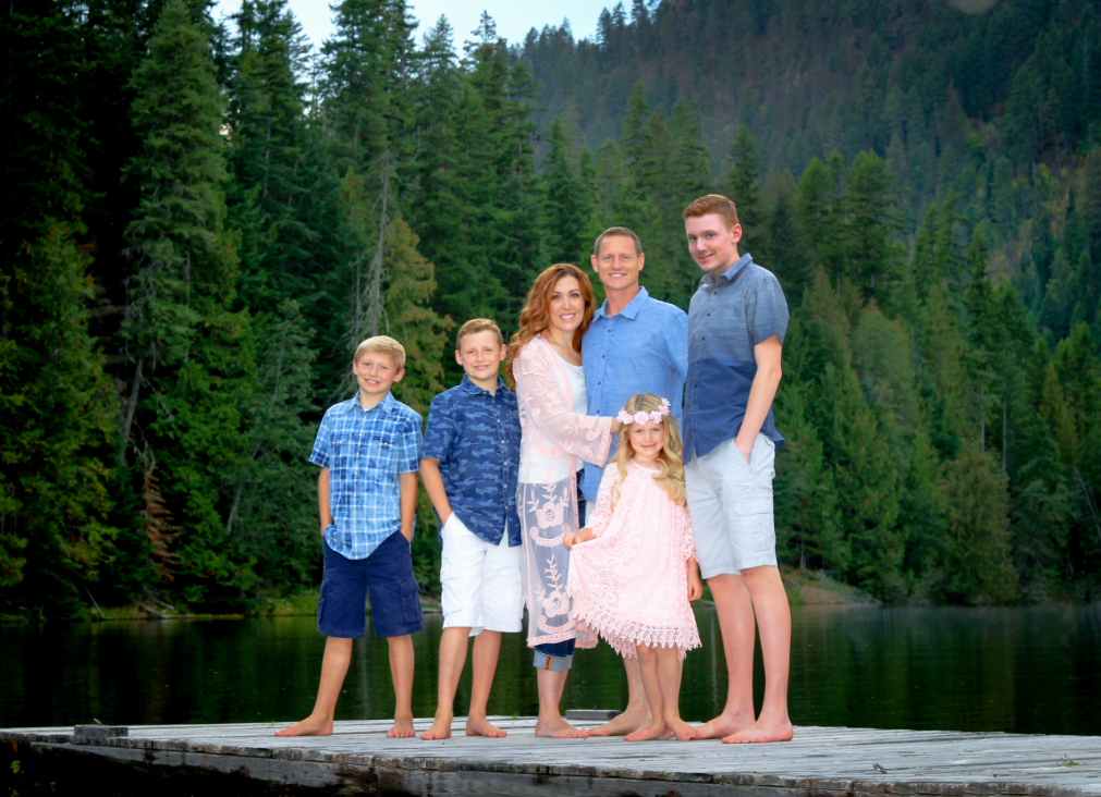 Owner Tim Lewis and his family